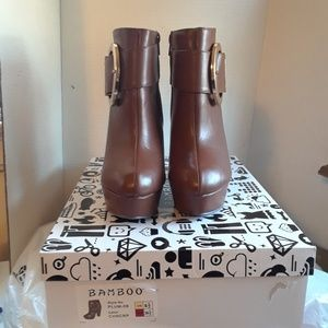 Bamboo Ankle Boots Women's size 6.5
